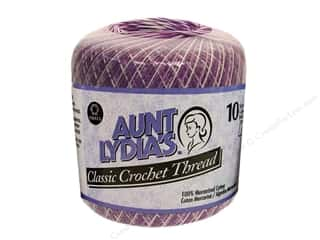 fall sale aunt lydia: Aunt Lydia's Classic Cotton Crochet Thread Size 10 300 yd. Shaded Purples