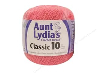 Aunt Lydia's Classic Cotton Crochet Thread Size 10 350 yd. French Rose