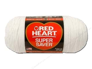 Red Heart Super Saver Jumbo Yarn 744 yd. #311 White