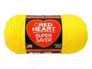 Red Heart Super Saver Jumbo Yarn 744 yd. #0324 Bright Yellow