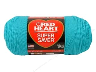 Red Heart Super Saver Jumbo Yarn #0512 Turquoise 744 yd.