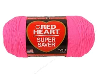 Red Heart Super Saver Jumbo Yarn 744 yd. #0722 Pretty N Pink