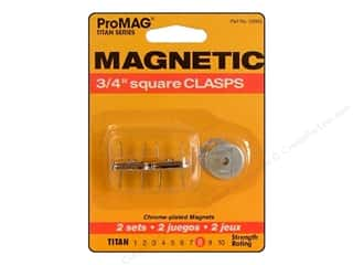 "ProMag Magnetic Clasp Square Silver 3/4"" 2pc"