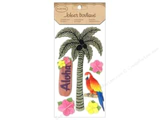 Jolee's Boutique Stickers Glitter Palm Tree