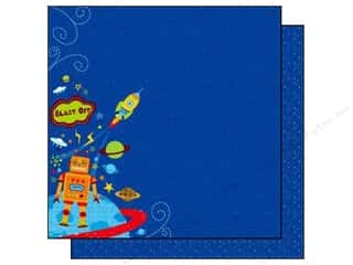 Clearance Best Creations Paper 12x12: Best Creation 12 x 12 in. Paper Robot Collection Blast Off (25 sheets)