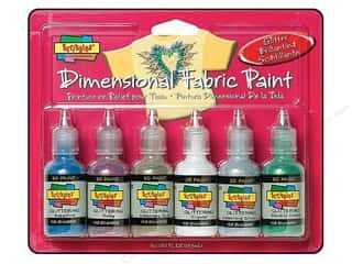 Tulip 3D Fashion Paint Set 6 pc. Glitter: Scribbles Dimensional Fabric Paint Set Glitter 6 pc