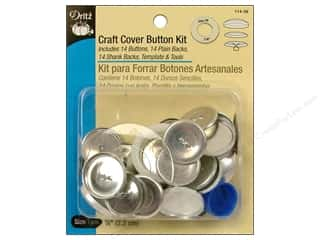 cover button: Cover Button Kit by Dritz Craft 7/8 in. 14 pc.