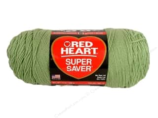 Red Heart Super Saver Jumbo Yarn #661 Frosty Green 744 yd.