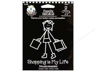 Clearance Plaid Me & My Peeps Iron Ons: Plaid Peeps Family Decals Shopping is My Life Large