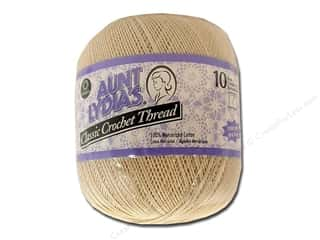 Aunt Lydia's Classic Cotton Crochet Thread Size 10 Natural 1000 yd.