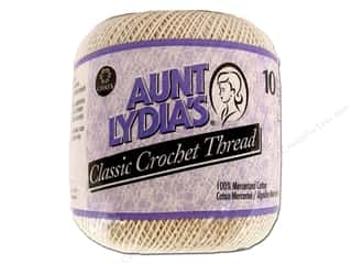 Aunt Lydia's Classic Cotton Crochet Thread Size 10 350 yd. Natural