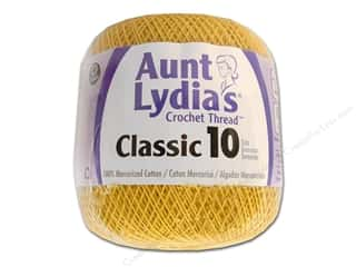 Aunt Lydia's Classic Cotton Crochet Thread Size 10 350 yd. Golden Yellow