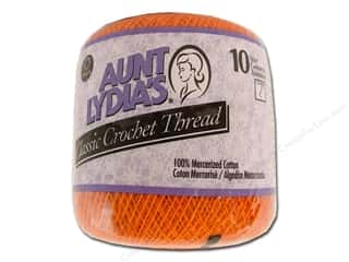 Aunt Lydia's Classic Cotton Crochet Thread Size 10 350 yd. Pumpkin