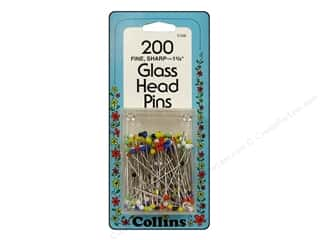 Glass Head Pins by Collins 1 3/8 in. 200 pc.