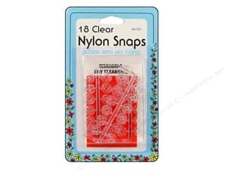 Nylon Snaps by Collins Clear 18 sets