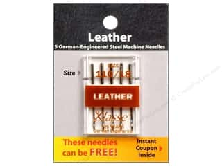 sewing machine needle threader: Klasse Machine Needle Leather Size 110/18 5pc Card