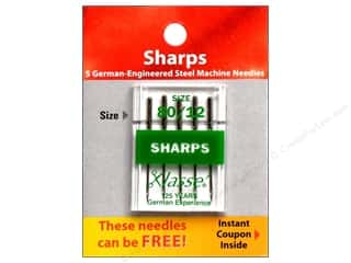 Klasse Sharps Machine Needle Size 80/12 5 pc.