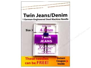 Klasse Twin Jeans/Denim Machine Needle Size 100/16 4 mm 1 pc.
