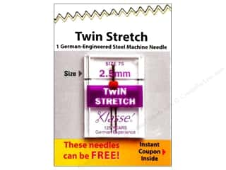 Needle: Klasse Twin Stretch Machine Needle Size 75/11 2.5 mm 1 pc.