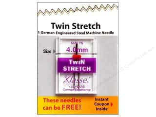 Needle: Klasse Twin Stretch Machine Needle Size 75/11 4 mm 1 pc.