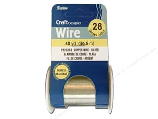 craft wire: Darice Copper Craft Wire 28 ga. 40 yd. Silver