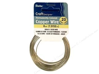 craft wire: Darice Copper Craft Wire 20 ga. 8 yd. Silver