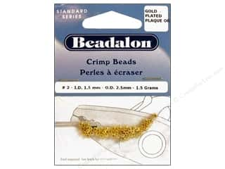 beading & jewelry making supplies: Beadalon Crimp Beads 2.5 mm Gold .05 oz.