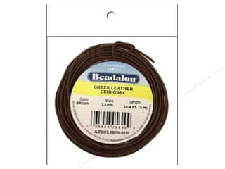 beading & jewelry making supplies: Beadalon Greek Leather Cord 2.0 mm Brown 16.4 ft.
