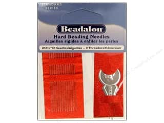 beading & jewelry making supplies: Beadalon Hard Beading Needles Size 10 12 pc.