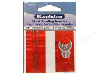 Beadalon hand Needles: Beadalon Hard Beading Needles Size 10 6 pc.