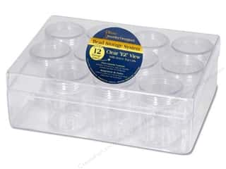 craft & hobbies: Darice Bead Storage System 6 1/4 x 4 3/4 x 2 in. with 12 Containers
