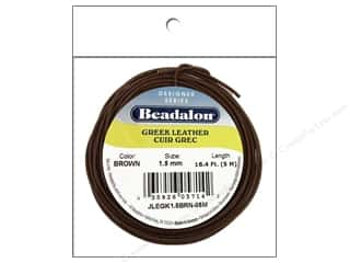 beading & jewelry making supplies: Beadalon Greek Leather Cord 1.5 mm Brown 16.4 ft.