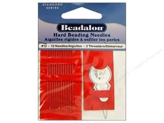 beading & jewelry making supplies: Beadalon Hard Beading Needles Size 12 12 pc.