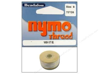 beading & jewelry making supplies: Beadalon Nymo Thread Size B 72 yd. White