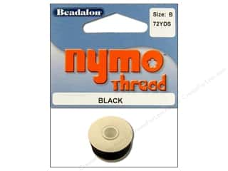 Twine: Beadalon Nymo Thread Size B 72 yd. Black