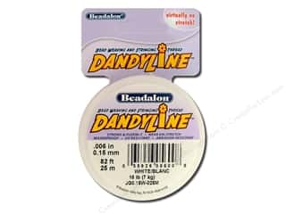 beading & jewelry making supplies: Beadalon DandyLine Beading Thread 0.15 mm White 82 ft.
