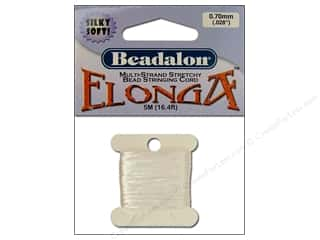 Beadalon Elonga Stretchy Bead Stringing Cord: Beadalon Elonga Stretchy Bead Stringing Cord .7 mm White 16.4 ft.