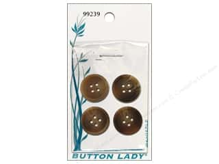 JHB: JHB Button Lady Buttons 5/8 in. Brown #99239 4 pc.