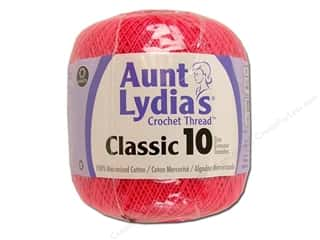 Aunt Lydia's Classic Cotton Crochet Thread Size 10 350 yd. Hot Pink
