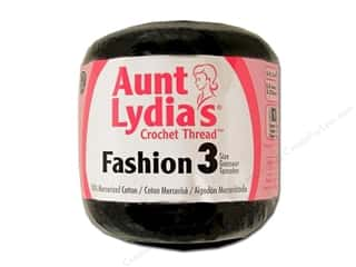 Aunt Lydia's Fashion Crochet Thread Size 3 150 yd. #12 Black
