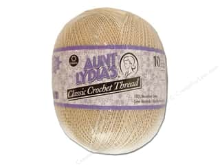 Aunt Lydia's Jumbo Classic Cotton Crochet Thread Size 10 2730 yd. Natural
