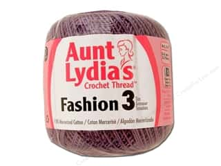 Aunt Lydia's Fashion Crochet Thread Size 3 150 yd. #871 Plum