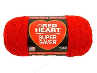 Red Heart Super Saver Jumbo Yarn #319 Cherry 744 yd.