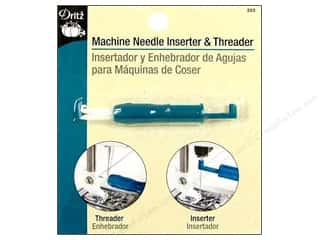 sewing machine needle threader: Machine Needle Inserter and Threader by Dritz