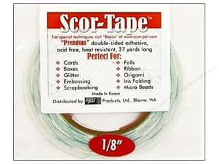 Double Sided Tape: Scor-Pal Scor-Tape Double Sided Adhesive 1/8 in. x 27 yd.