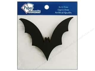 chipboard shapes: Paper Accents Chipboard Shape Bat 8 pc. Black