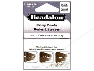 Beadalon Crimp Beads 1.3 mm Silver Plated .05 oz.