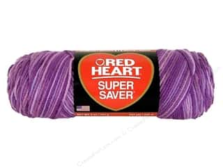 yarn & needlework: Red Heart Super Saver Yarn 236 yd. #546 Purple Tones