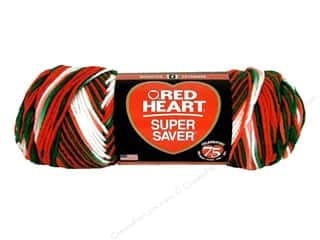 Multi Colored Yarn: Red Heart Super Saver Yarn #979 Mistletoe 244 yd.