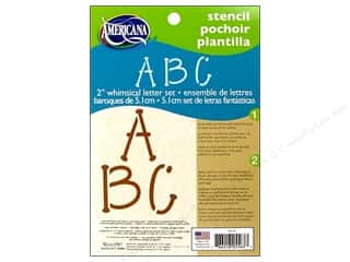 craft & hobbies: DecoArt Americana Alphabet Stencils 5 x 7 in. Whimsical 2 in.